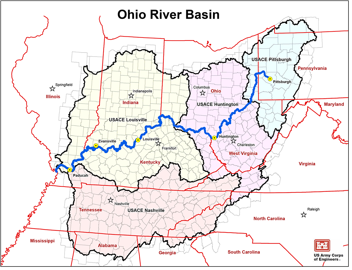 ORBA - Ohio river map
